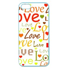 Valentine s day pattern Apple Seamless iPhone 5 Case (Color)