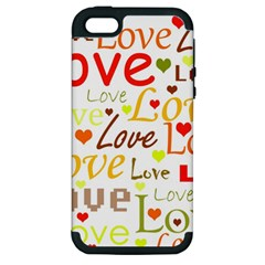 Valentine s day pattern Apple iPhone 5 Hardshell Case (PC+Silicone)