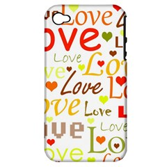 Valentine s day pattern Apple iPhone 4/4S Hardshell Case (PC+Silicone)