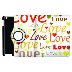 Valentine s day pattern Apple iPad 2 Flip 360 Case