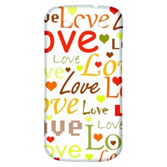 Valentine s day pattern Samsung Galaxy S3 S III Classic Hardshell Back Case