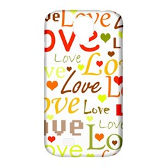 Valentine s day pattern Samsung Galaxy S4 Classic Hardshell Case (PC+Silicone)