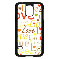 Valentine s day pattern Samsung Galaxy S5 Case (Black)