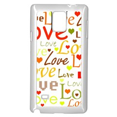Valentine s day pattern Samsung Galaxy Note 4 Case (White)