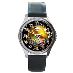 Christmas Crib Virgin Mary Joseph Jesus Christ Three Kings Baby Infant Jesus 4000 Round Metal Watch