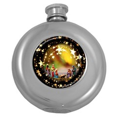 Christmas Crib Virgin Mary Joseph Jesus Christ Three Kings Baby Infant Jesus 4000 Round Hip Flask (5 oz)