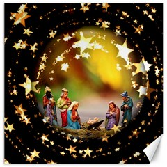 Christmas Crib Virgin Mary Joseph Jesus Christ Three Kings Baby Infant Jesus 4000 Canvas 20  x 20