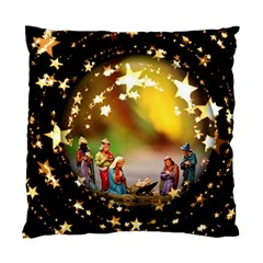 Christmas Crib Virgin Mary Joseph Jesus Christ Three Kings Baby Infant Jesus 4000 Standard Cushion Case (One Side)