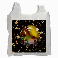 Christmas Crib Virgin Mary Joseph Jesus Christ Three Kings Baby Infant Jesus 4000 Recycle Bag (Two Side)