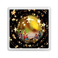 Christmas Crib Virgin Mary Joseph Jesus Christ Three Kings Baby Infant Jesus 4000 Memory Card Reader (Square)