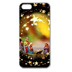Christmas Crib Virgin Mary Joseph Jesus Christ Three Kings Baby Infant Jesus 4000 Apple Seamless iPhone 5 Case (Clear)