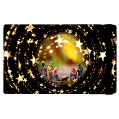 Christmas Crib Virgin Mary Joseph Jesus Christ Three Kings Baby Infant Jesus 4000 Apple iPad 2 Flip Case