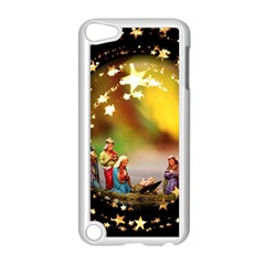 Christmas Crib Virgin Mary Joseph Jesus Christ Three Kings Baby Infant Jesus 4000 Apple iPod Touch 5 Case (White)