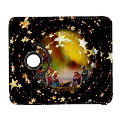 Christmas Crib Virgin Mary Joseph Jesus Christ Three Kings Baby Infant Jesus 4000 Galaxy S3 (Flip/Folio)