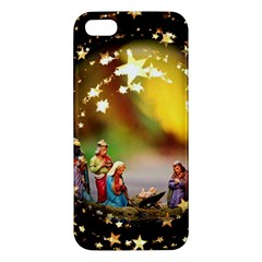 Christmas Crib Virgin Mary Joseph Jesus Christ Three Kings Baby Infant Jesus 4000 Apple iPhone 5 Premium Hardshell Case