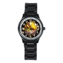 Christmas Crib Virgin Mary Joseph Jesus Christ Three Kings Baby Infant Jesus 4000 Stainless Steel Round Watch