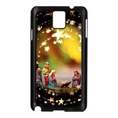 Christmas Crib Virgin Mary Joseph Jesus Christ Three Kings Baby Infant Jesus 4000 Samsung Galaxy Note 3 N9005 Case (Black)