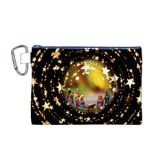 Christmas Crib Virgin Mary Joseph Jesus Christ Three Kings Baby Infant Jesus 4000 Canvas Cosmetic Bag (M)