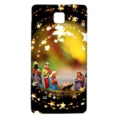 Christmas Crib Virgin Mary Joseph Jesus Christ Three Kings Baby Infant Jesus 4000 Galaxy Note 4 Back Case