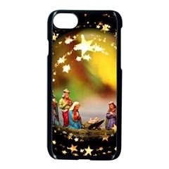 Christmas Crib Virgin Mary Joseph Jesus Christ Three Kings Baby Infant Jesus 4000 Apple Iphone 7 Seamless Case (black)