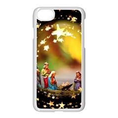 Christmas Crib Virgin Mary Joseph Jesus Christ Three Kings Baby Infant Jesus 4000 Apple Iphone 7 Seamless Case (white)