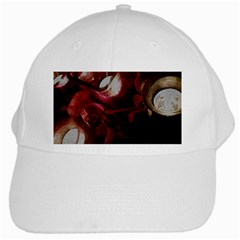 Dark Red Candlelight Candles White Cap