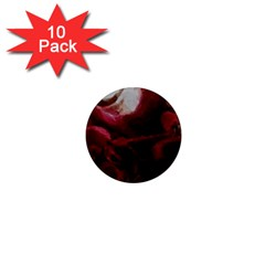 Dark Red Candlelight Candles 1  Mini Magnet (10 pack)