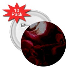 Dark Red Candlelight Candles 2.25  Buttons (10 pack)
