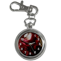 Dark Red Candlelight Candles Key Chain Watches