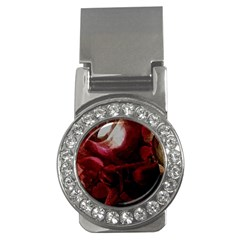 Dark Red Candlelight Candles Money Clips (CZ)