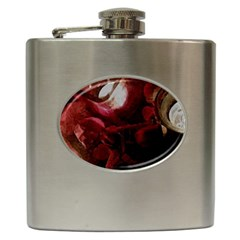 Dark Red Candlelight Candles Hip Flask (6 oz)