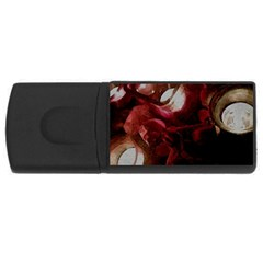 Dark Red Candlelight Candles USB Flash Drive Rectangular (2 GB)