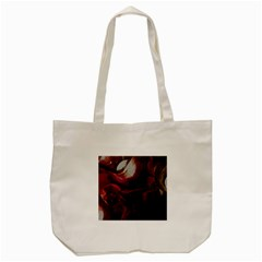 Dark Red Candlelight Candles Tote Bag (Cream)