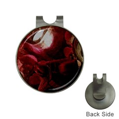 Dark Red Candlelight Candles Hat Clips with Golf Markers