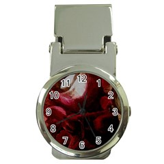 Dark Red Candlelight Candles Money Clip Watches