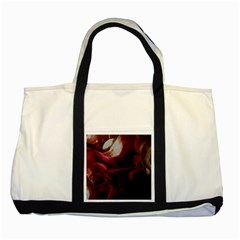 Dark Red Candlelight Candles Two Tone Tote Bag