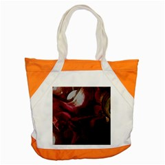 Dark Red Candlelight Candles Accent Tote Bag