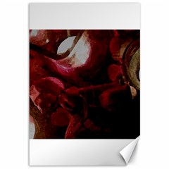 Dark Red Candlelight Candles Canvas 12  x 18