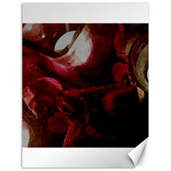 Dark Red Candlelight Candles Canvas 18  x 24