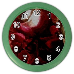 Dark Red Candlelight Candles Color Wall Clocks
