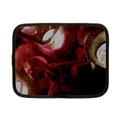 Dark Red Candlelight Candles Netbook Case (Small)