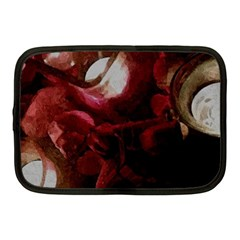 Dark Red Candlelight Candles Netbook Case (Medium)