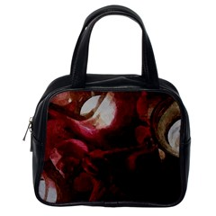 Dark Red Candlelight Candles Classic Handbags (one Side)