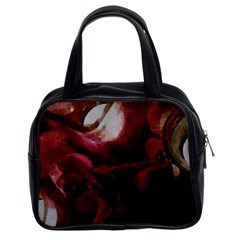 Dark Red Candlelight Candles Classic Handbags (2 Sides)
