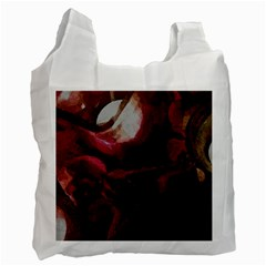 Dark Red Candlelight Candles Recycle Bag (One Side)