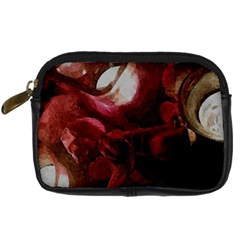 Dark Red Candlelight Candles Digital Camera Cases