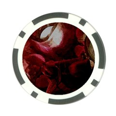 Dark Red Candlelight Candles Poker Chip Card Guards (10 pack)