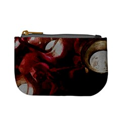 Dark Red Candlelight Candles Mini Coin Purses