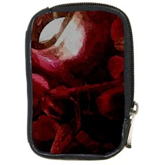 Dark Red Candlelight Candles Compact Camera Cases