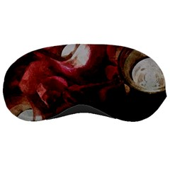 Dark Red Candlelight Candles Sleeping Masks
